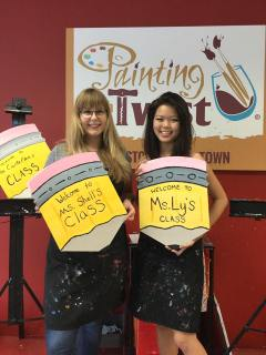 Teachers at Painting With A Twist