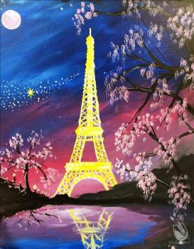 Paris Under A Pink Moon