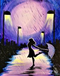 Purple Street Woman