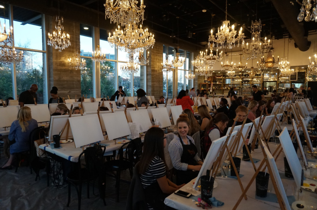 Painting Under the Chandeliers 2018 at The Dunlavy