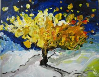 van gogh tree painting