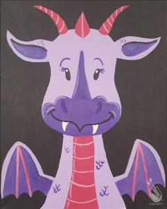 Beckys Dragon Draco Painting