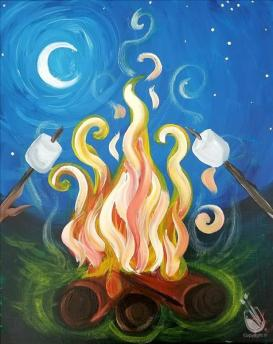 Campers Have Smore Fun by Painting with a Twist