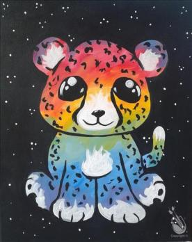 Charlies the rainbow cheeta painting