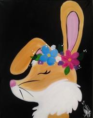 Flower Crown Bunny painting