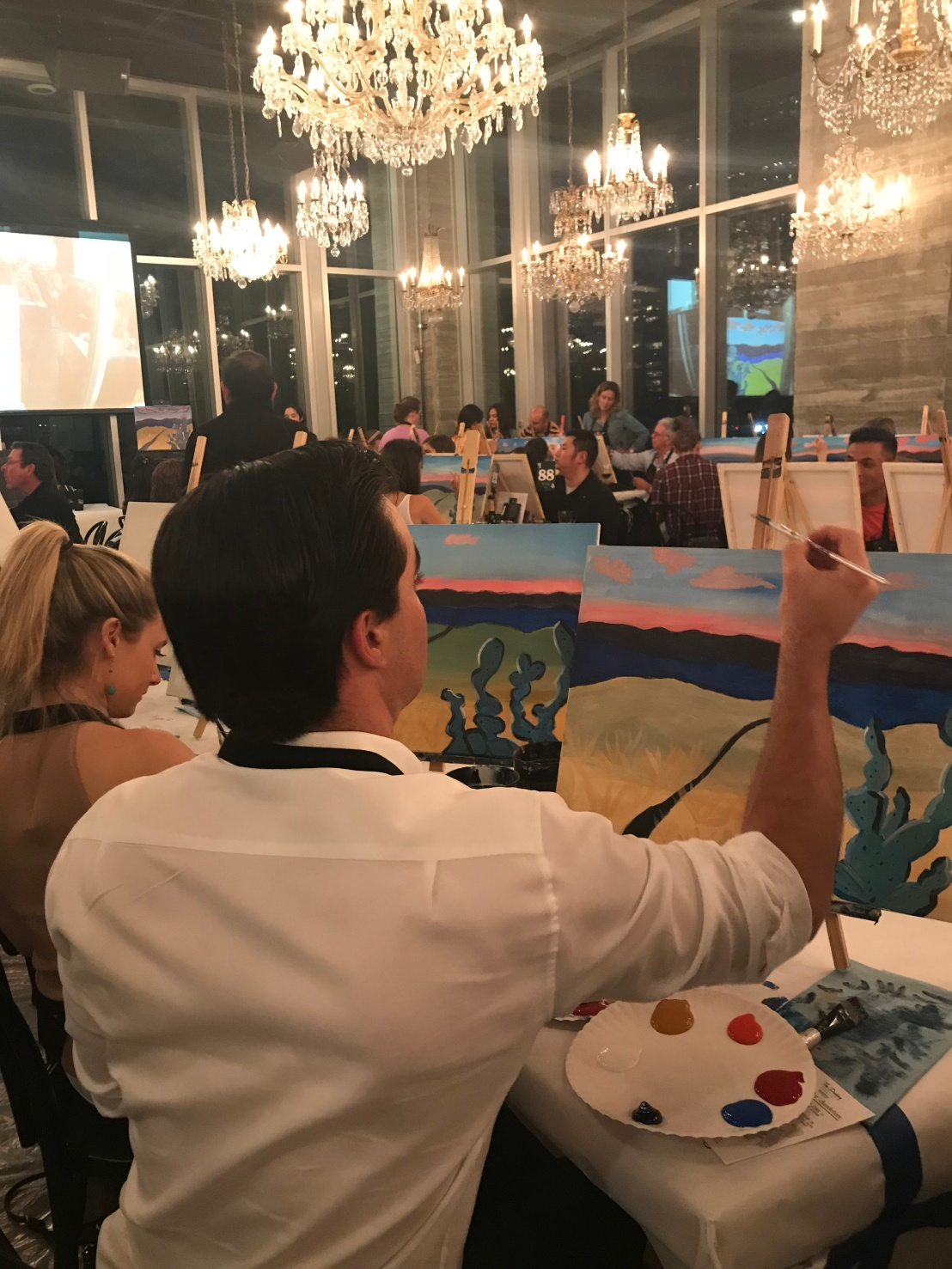 Event Recap: Painting Under the Chandeliers March 28