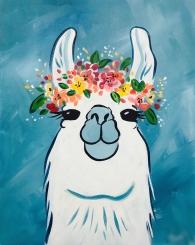 Spring Llama Painting
