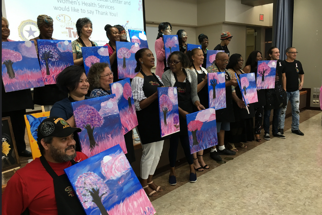 Breast Cancer Survivors Paint to Celebrate Survival