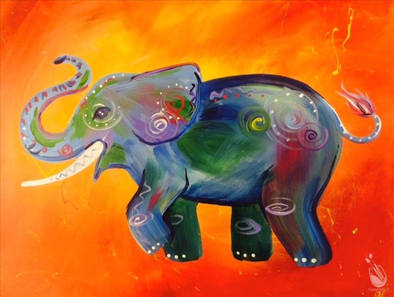 Elephant Art You Can Create at Painting with a Twist!