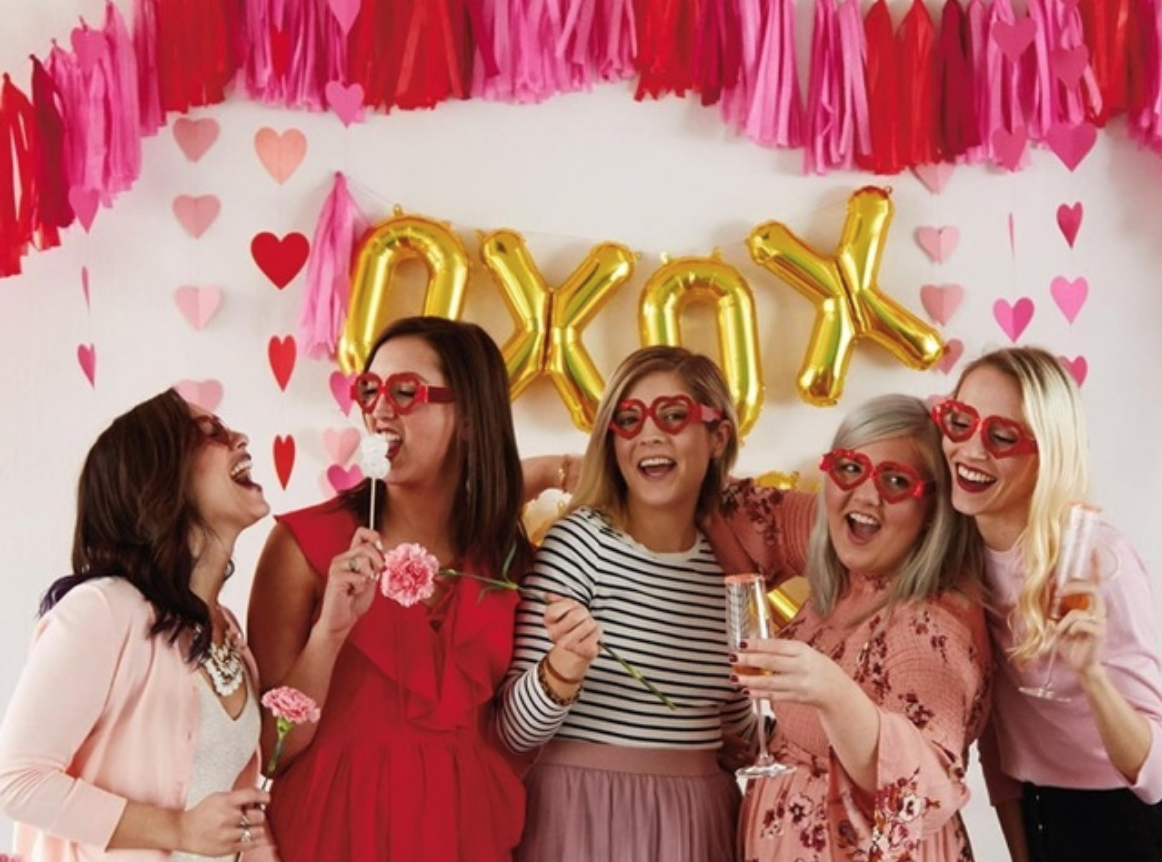 5 ways to host a galentine s day party paint party experts. Black Bedroom Furniture Sets. Home Design Ideas